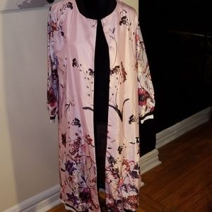Long luxurious floral jacket